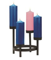 Tiered Advent Pillar Stand, Cup Style