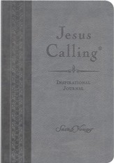 Jesus Calling Inspirational Journal, Leather-look, Gray