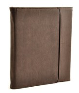 Trifold IPad Cover with Cross, Vintage Brown