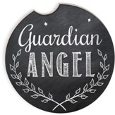 Guardian Angel Chalkboard Car Coaster
