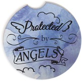 Protected by Angels Watercolor Car Coaster Set