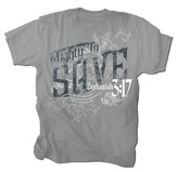 Mighty to Save Shirt, Gray, Small
