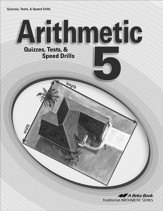 Arithmetic 5 Quizzes, Tests, & Speed Drills Book