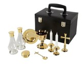 Deluxe Clergy Mass Kit, Polished Brass