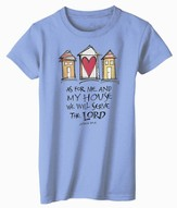 As For Me and My House Shirt, Blue, Large