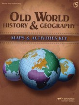 Old World History & Geography Maps & Activities Key