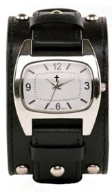 Rectangle Watch, Wide, Black Strap