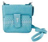 Crossbody Wristlet, Faux Leather, Aqua