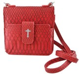 Crossbody Wristlet, Faux Leather, Red