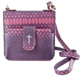 Crossbody Wristlet, Faux Leather, Purple