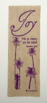 Joy Linen Bookmark