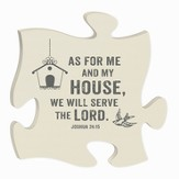 As For Me and My House, Puzzle Plaque