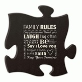 Family Rules, Puzzle Plaque