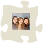 Puzzle Piece Photo Frame, Cream
