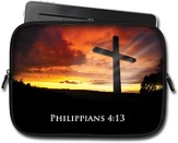Cross Sunrise, Philippians 4:13 Tablet Case, Large