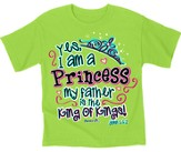 Yes I Am A Princess Shirt, Green, Youth Medium