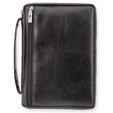 Leather-Look Vinyl Bible Cover, Black, Large