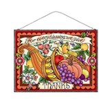 For Every Blessing, We Give Thanks, Stained Glass Plaque