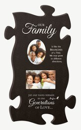 Our Family, Puzzle Photo Frame, Large