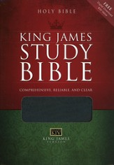 KJV Study Bible Bonded leather, black - Imperfectly Imprinted Bibles