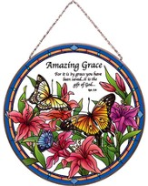 Amazing Grace, Stained Glass Plaque