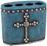 Cross Toothbrush Holder, Turquoise
