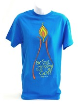 Be Still and Know Shirt, Turquoise, Large