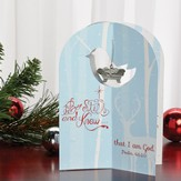 Be Still and Know Card, with Mini Baby Jesus Ornament