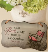 Find Rest Mounted Print Plaque