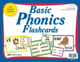 Basic Phonics Flashcards (Grades 1-3; 132 cards)