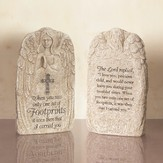 Footprints, Stone Angel Figurine