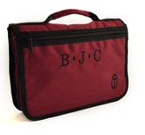 Personalized, Wordkeeper Economy Canvas Bible Cover, Burgundy, Large