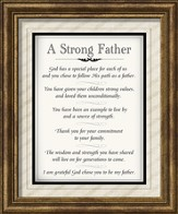 A Strong Father Framed Art