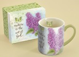 Nature Is the Art Of God, Lilac Mug