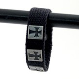 Three Crosses, Canvas Bracelet
