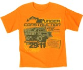 Under Construction Shirt, Orange, Youth Large
