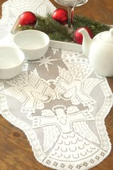 Glorious Angel Table Runner, White, Small