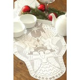 Glorious Angel Table Runner, White, Large