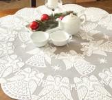 Glorious Angel Table Topper, White