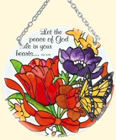 Let the Peace of God Rule in Your Heart Suncatcher