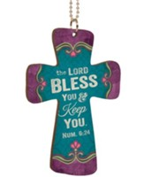The Lord Bless and Keep You, Cross Car Charm