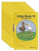 Little Books to Read and Color 1-12 (12-book set)