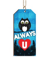 Always Love You, Owl, Tag Car Charm