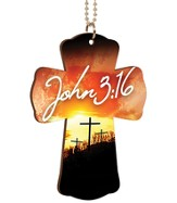 John 3:16, Cross Car Charm