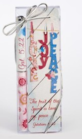 Love, Joy, Peace, Pen and Bookmark Gift Set