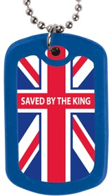 Saved by the King--Dog Tag Necklace