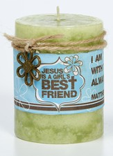 Jesus Is A Girl's Best Friend Candle and Ornament