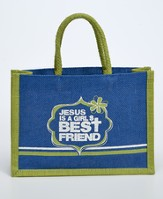Jesus Is A Girl's Best Friend Tote Bag