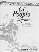 Of People Literature Quiz and Test Book