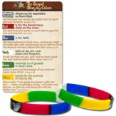 The Gospel Story Stamped Silicone Bracelet and Card